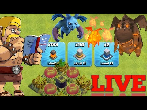 🔴 COC Live 🔴Wall Update Bast Army Town Hall 12  - Clash Of Clans Live