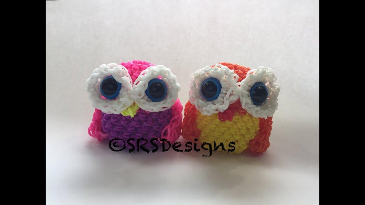 Amigurumi Lalylala : Owl Tutorial Rainbow Loom Loomigurumi/Amigurumi Hook Only ...