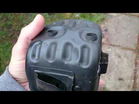 Zenoah GZ7000(Husky 570) Dual port muffler mod&carb adjust hack
