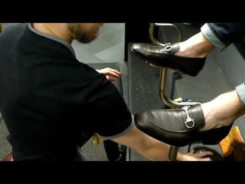 First shine on Ferragamos, best shoe shine in Denver, Shoe Shine, ASMR