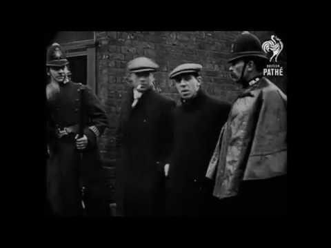 January 3, 1911 - London Street Siege/Fire (speed corrected w/ sound)
