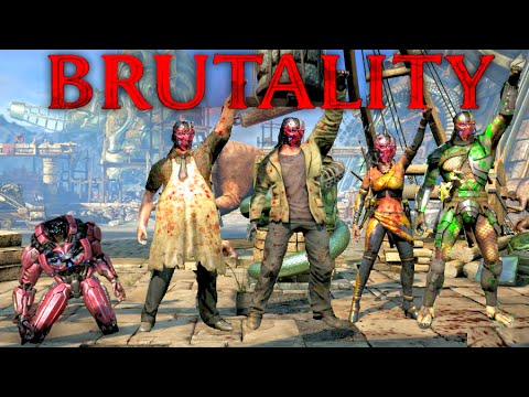 Mortal Kombat XL Triborg Sektor Head Strong Brutality on All Characters