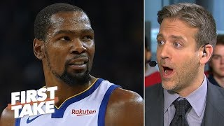 Kevin Durant needs to play after Andre Iguodala's Game 1 injury - Max Kellerman | First Take