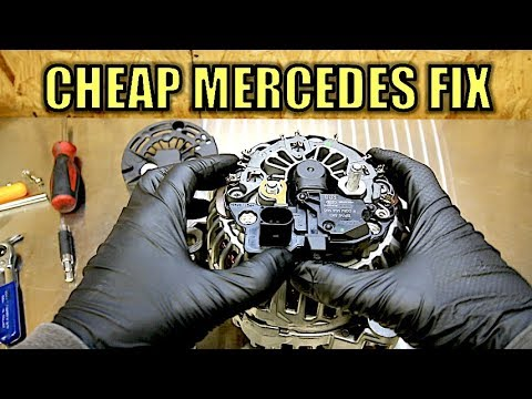bosch internal regulator alternator wiring diagram dyson dc15 animal parts how to fix your expensive mercedes benz for super cheap no more warning lights