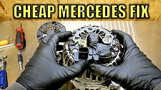 How To Fix Your Expensive Mercedes-Benz Alternator For Super Cheap. No More Warning Lights!