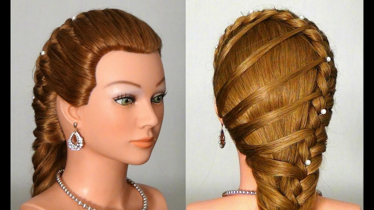 Easy Styles For Long Hair: Прическа в школу с плетением. Easy Back To School