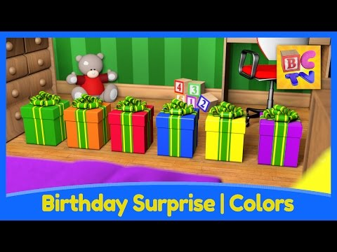 Birthday Surprise | Learn Colors For Kids With Fun Toys And Vehicles By Brain Candy TV