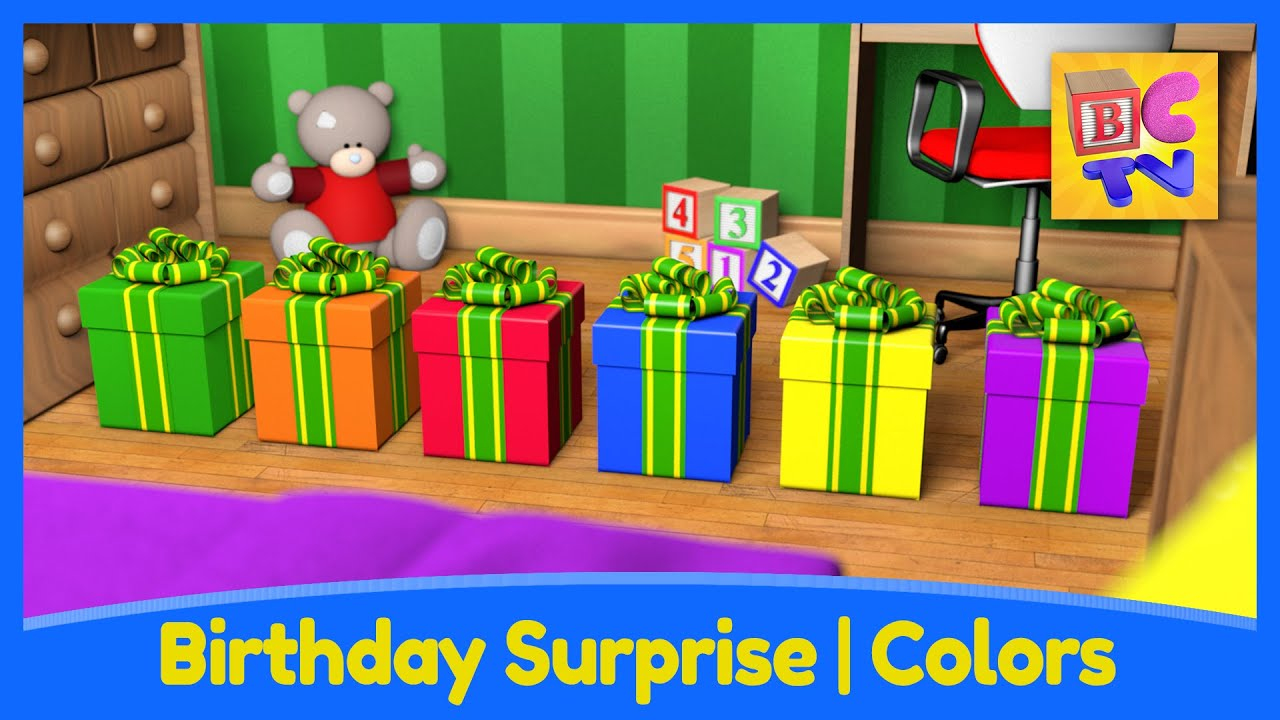 Birthday Surprise | Learn Colors for Kids with Fun Toys and Vehicles ...