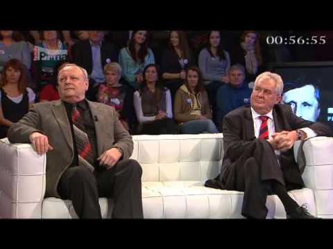 Prezidentská debata Miloš Zeman v. Jan Fischer