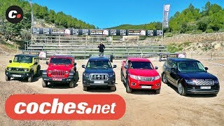 Comparativa Todoterreno: Jimny, Wrangler, Land Cruiser, Navara, Range Rover 2019 | coches.net