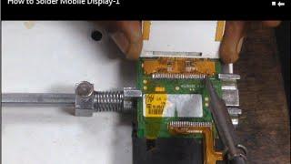 How To Solder - Replace Display - Screen of Mobile l Mobile phone repair