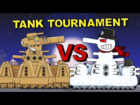 """American KV44 vs Snow Monster"" Cartoons about tanks"