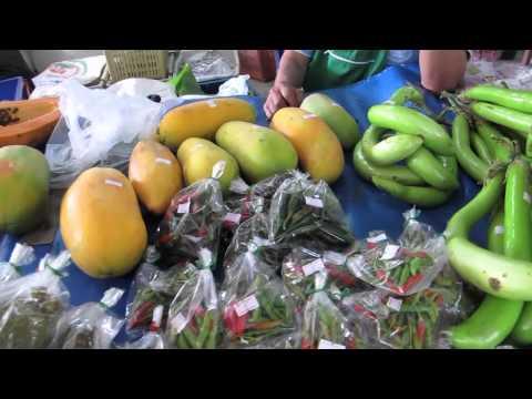 Det økologiske marked i Chiang Mai, Thailand.