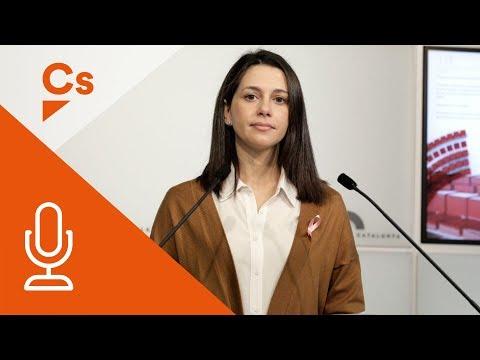 Inés Arrimadas. Rueda de prensa desde el Parlament de Catalunya thumbnail