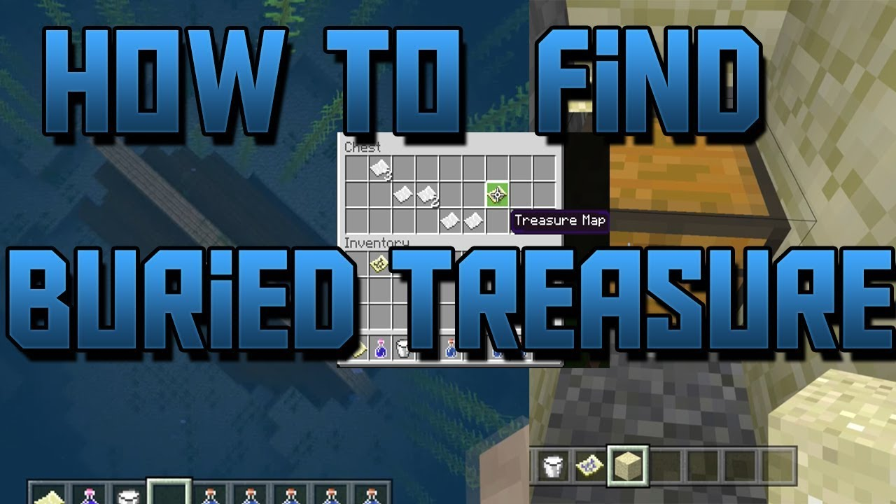 How To Find Buried Treasure In Minecraft Bedrock Edition (Aquatic Update)