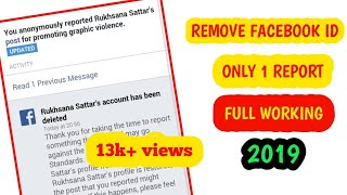 How to remove someone facebook account with one report 2019 trick