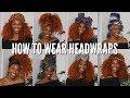 9 QUICK & EASY WAYS TO TIE A HEADWRAPS/TURBANS | ATARAH AVENUE X KIITANA TUTORIAL (how to)