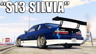 NEW SILVIA S13 FULL DRIFT BUIILD IN GTA 5 ONLINE