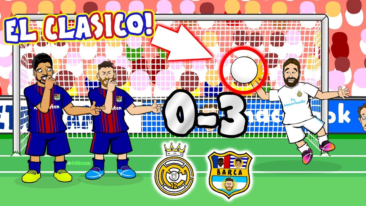 El Clasico 2017!😲 Real Madrid vs Barcelona (Parody Goals and Highlights  Song) 79c04e76c91d1