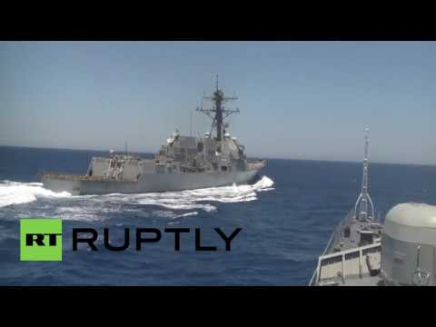 Mediterranean Sea: US destroyer comes dangerously close to Russian warship in Med