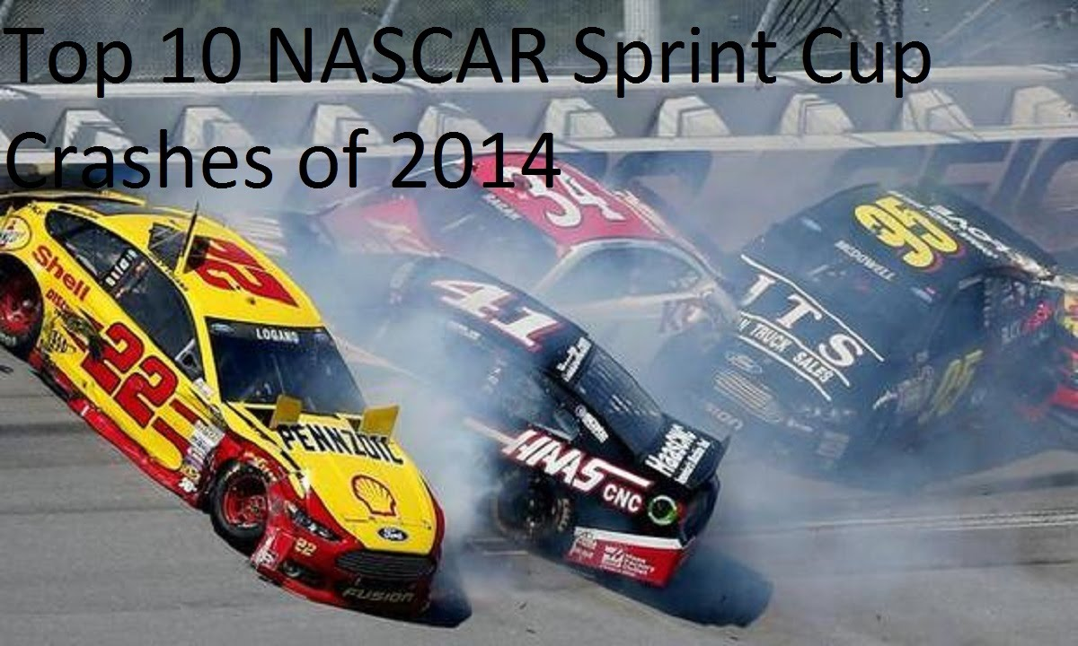 Top 10 NASCAR Sprint Cup Series Crashes of 2014 - YouTube