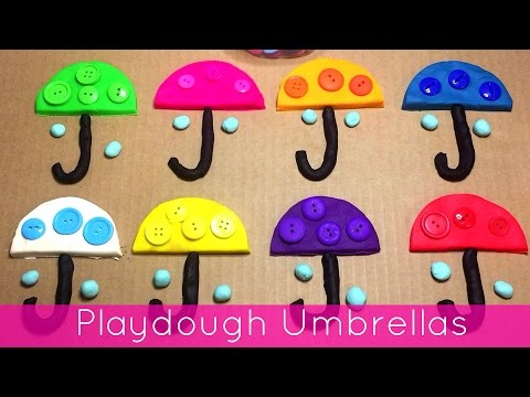 Playdough Umbrellas Fine Motor Activity For Preschool and Kindergarten