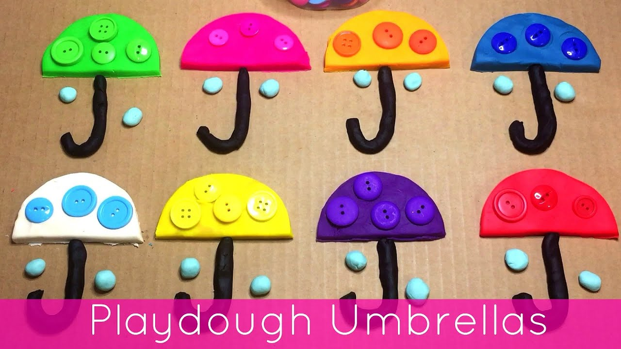 Playdough Umbrellas Fine Motor Activity For Preschool And