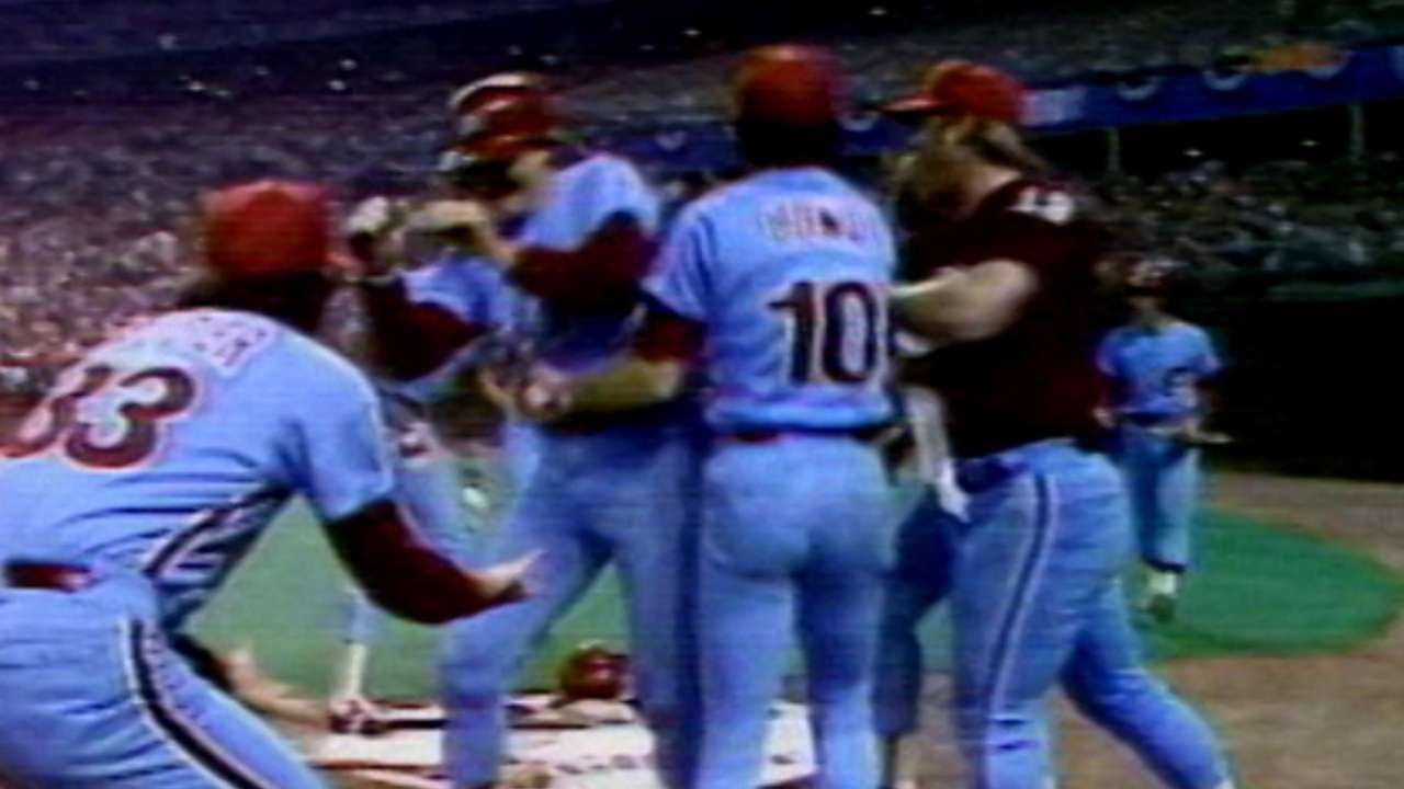 1980 NLCS Gm5 Trillos Triple Gives Phillies Lead