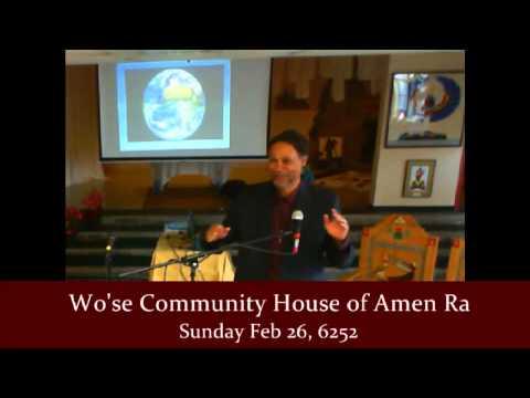 Wo'se Community Worship Celebration Feb 26, 2012 Min Imhotep Alkebulan in Oakland