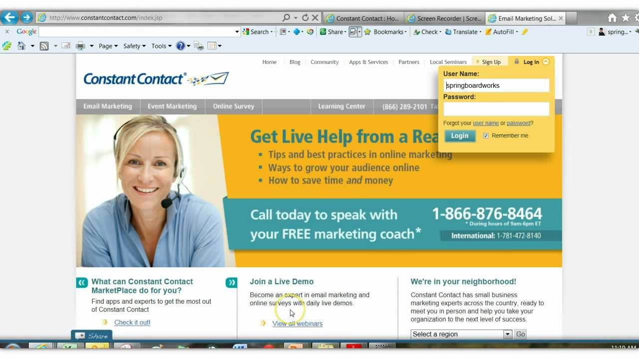 How To Use Constant Contact For Sending Email See Updated Version - Constant contact newsletter templates