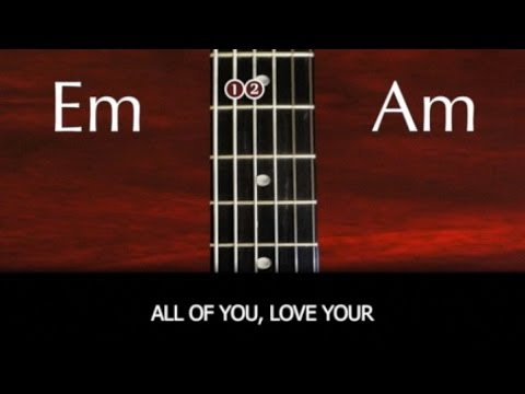 Learn to play All Of Me by John Legend - Strum Pattern with chords and lyrics