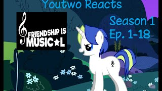 [Blind Reaction] Friendship is Musical | Season 1 Episodes 1-1…