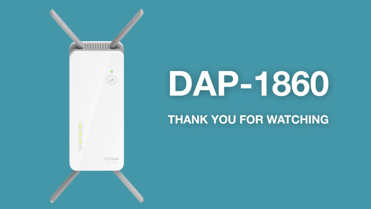 How to Set Up the AC2600 Wi-Fi Extender (DAP-1860) - YouTube