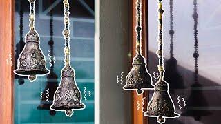 DIY DOOR HANGING BELLS   INDIAN STYLE CRAFTS    ROOM DECOR CRAFTS   DOOR TORAN  