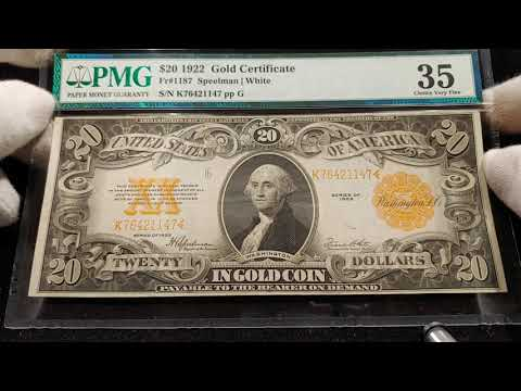 Upgraded My $20 Twenty Dollar Gold Certificate!