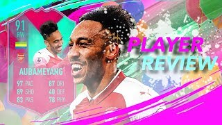 Fifa 19 Fut Birthday Aubameyang 91 Player Review