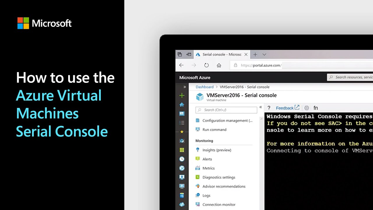 How to use the Azure Virtual Machines Serial Console | Azure Tips and Tricks