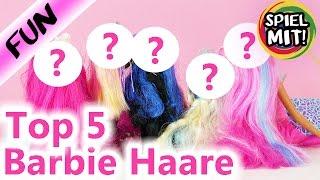 Top 5 BARBIE Haare | Kathis LIEBLINGSHAARE von Barbie Puppen | Spiel mit mir Kinderspielzeug