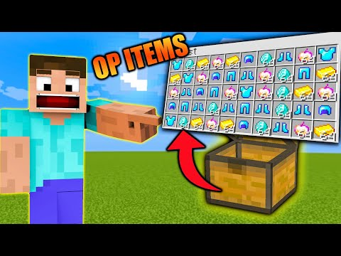 Minecraft, But Chests Give OP Items