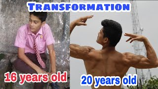 20 Years Old - 4 Year Crazy Natural Body Transformation | Skinny to Fit Journey | Gym Motivation