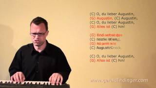 Gerald Lindinger: Oh du lieber Augustin / C / schnell