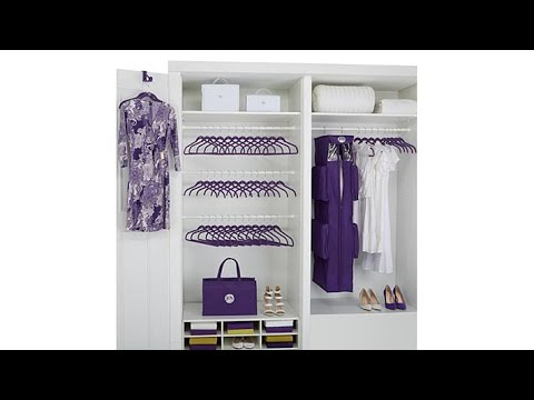 JOY Huggable Hangers 65pc Closet Accessories SetChrome