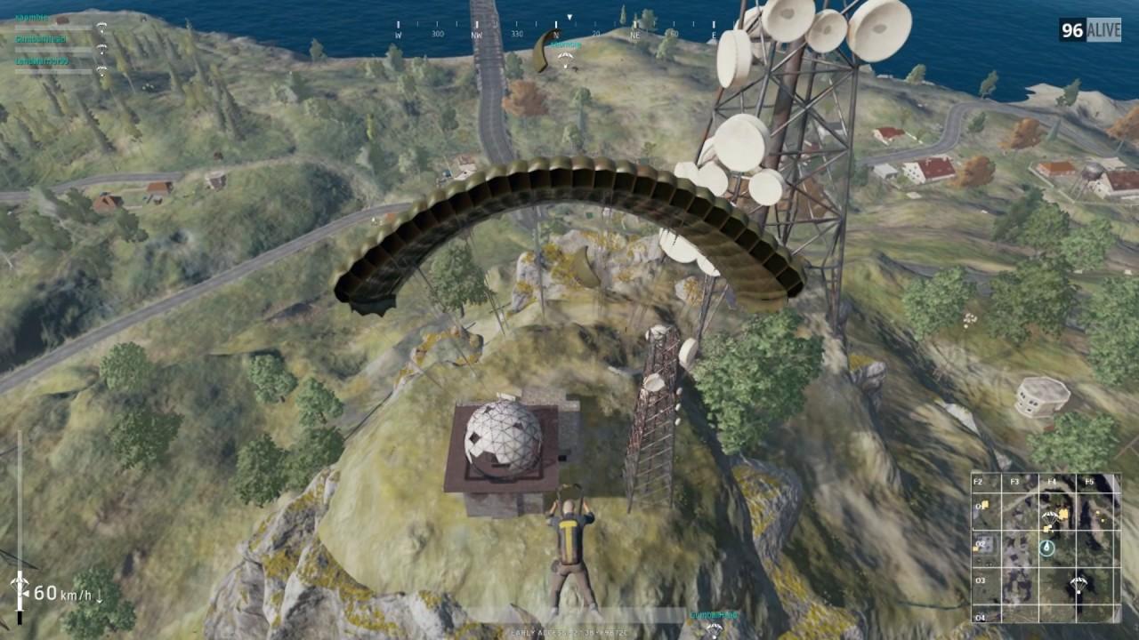 PUBG Military base radio tower base clearing - YouTube