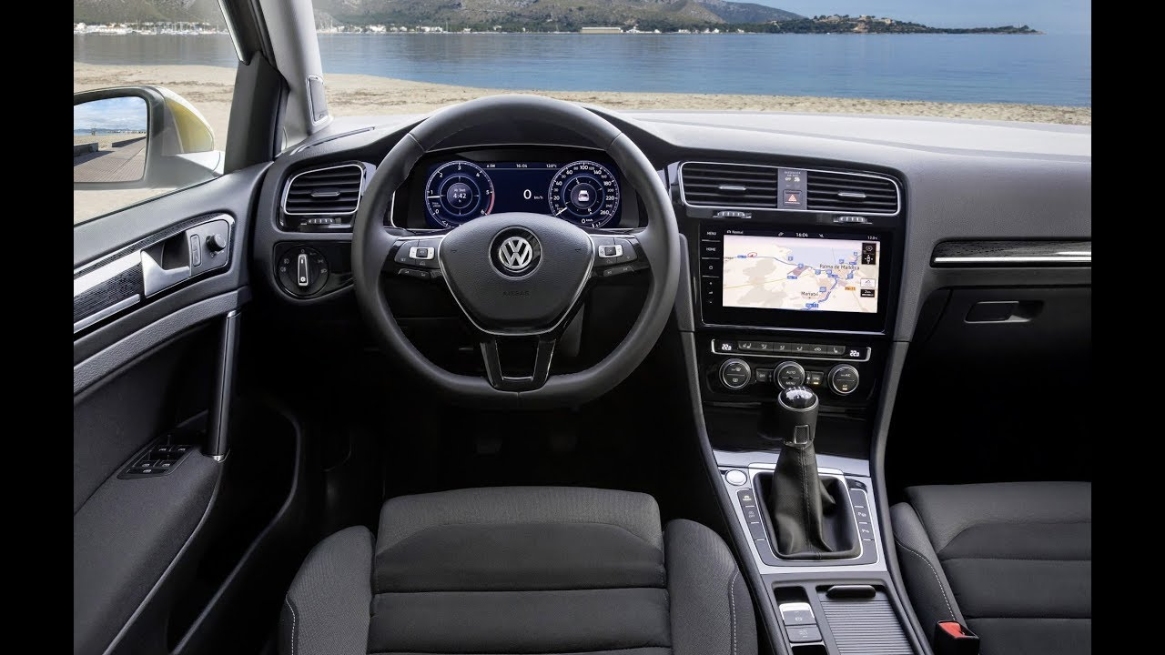 vw golf 7 facelift cockpit und bedienelemente 2018. Black Bedroom Furniture Sets. Home Design Ideas