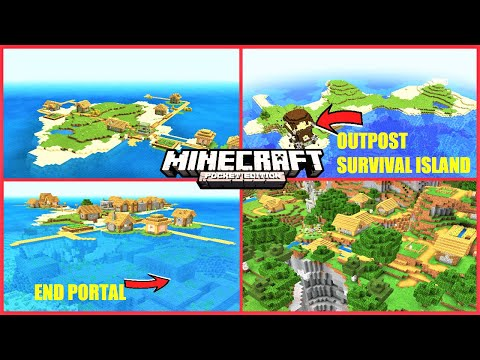 Minecraft PE 1.16 SEEDS - OUTPOST Survival Island, Village Survival Island With Stronghold & More!