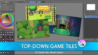 Intro to top-down game tileset as in 2d Zeldas