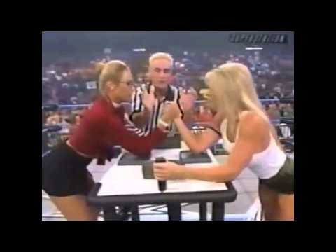 » WCW || Major Gunns vs. Miss Hancock Arm-Wrestling || July 26, 2000