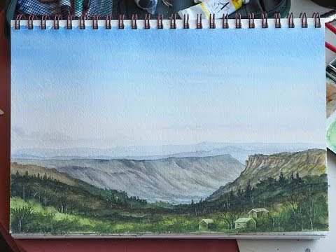Paint the Australian Blue Mountains in Watercolours. With Matthew Palmer