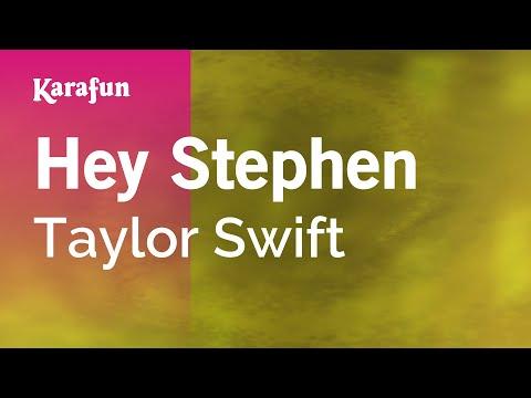 Karaoke Hey Stephen - Taylor Swift *