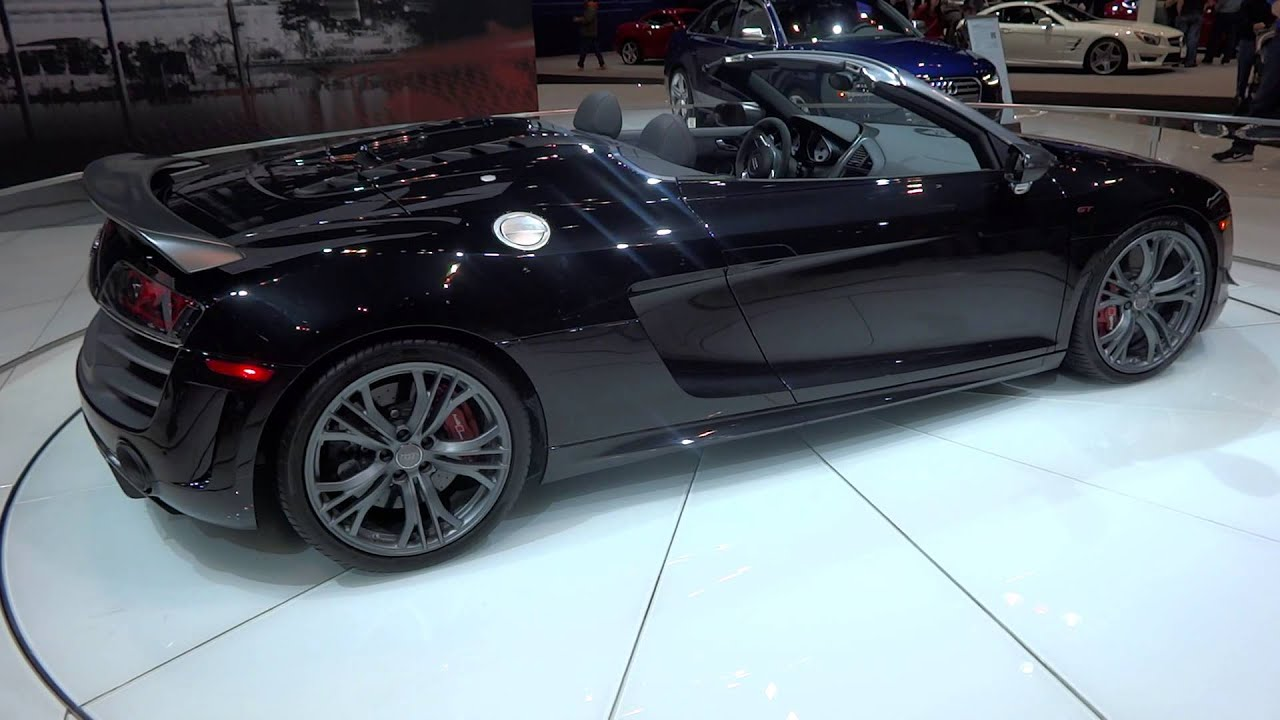 Thr Audi R8 Gt Spider Convertible At The 2013 Chicago Auto